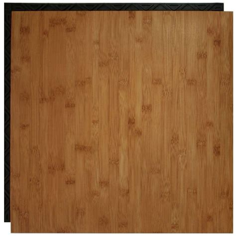 flooring place place n go bamboo 18 5 in x 18 5 in interlocking waterproof vinyl tile with built in