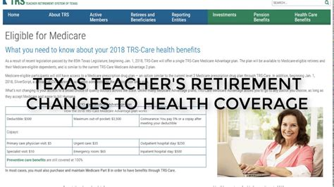 Health insurance is a type of insurance that covers the whole or a part of the risk of a person incurring medical expenses. Changes to Texas Teacher Retirement Health Care - YouTube