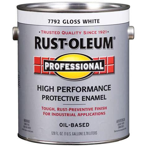 Shop Rustoleum Professional Glosswhite Gloss Oilbased