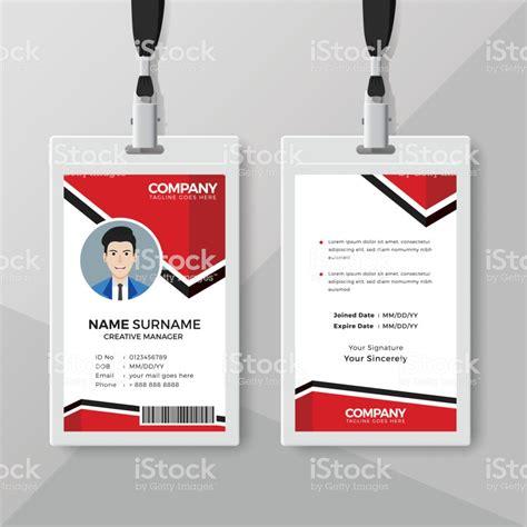 id card design template creative id card design template stock illustration