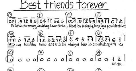 Not Angka Lagu Best Friend Forever