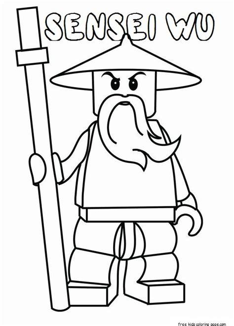 printable lego ninjago sensei wu coloring pages