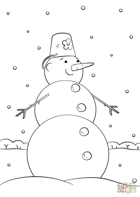 cute cartoon snowman coloring page  printable