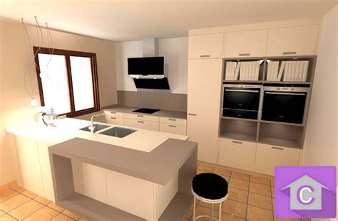 cuisine moderne ilot central cuisine leicht avec îlot