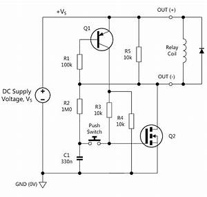Latching Power Switch Uses Momentary Pushbutton