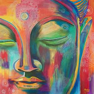 Buddha Face #1 Painting by Monikas Art