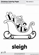 Sleigh Coloring Christmas Worksheets Santa Simple Super Esl Flashcards Learning Crafts Pages Supersimplelearning Resource Flashcard Room Songs English Tree Song sketch template