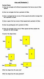 Same Area But Different Perimeter And Vice Versa Worksheet