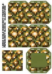 Large Scale Minecraft Printable Glowstone Block