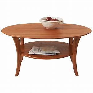 Oval coffee table usa solid wood furniture for Solid wood oval coffee table