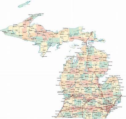 Michigan Map Road Maps America
