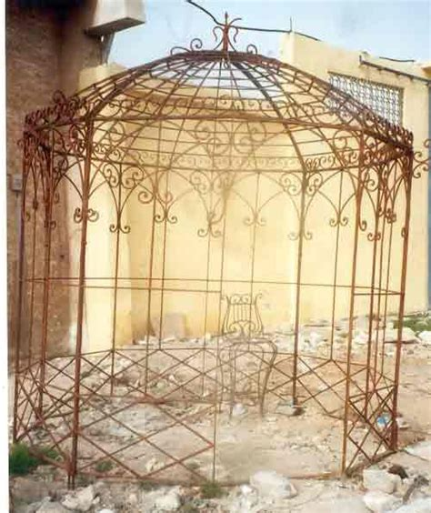 vintage metal arbor wrought iron gazebos garden metal
