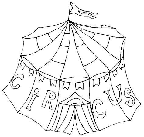 Circustent Kleurplaat by Circus Kleurplaten Circustent