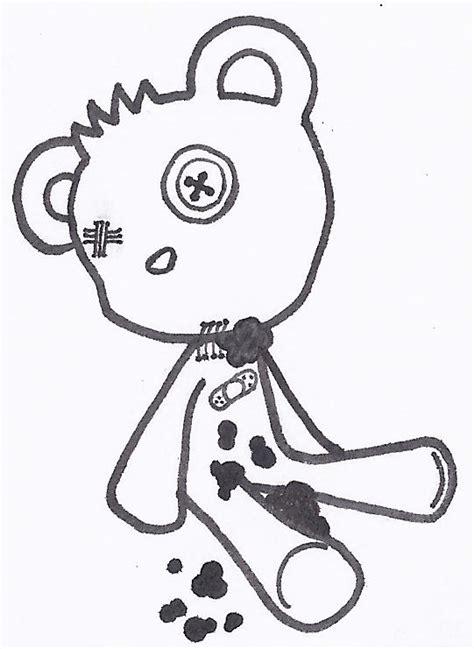 simple teddy bear tattoo stencil tattooshuntcom