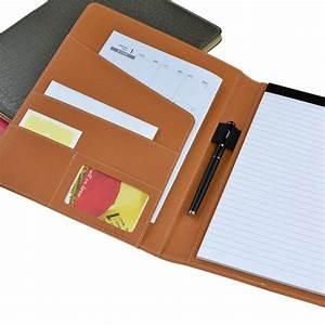 professional handmade pu leather a4 folder executive With portfolio document holder