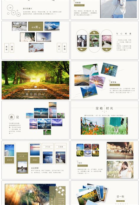 awesome travel photo album travel diary  template