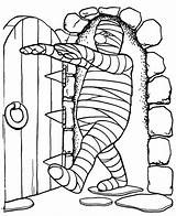 Mummy Coloring Pages Chamber Walking Into Colornimbus Printable sketch template