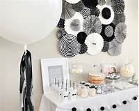 black and white decorations Black and white party decorations | Sandy Party Decorations
