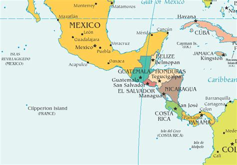 central america map images  reference