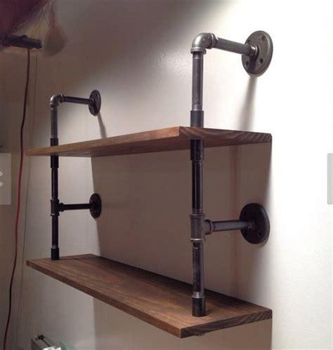 Hardwood Wall Shelves by Aliexpress Buy Large Vintage Industrial Steel Pipes