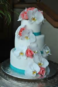 Coral Beach Wedding Cake