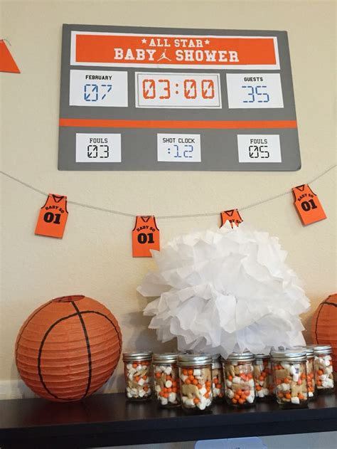 ideas  basketball baby shower  pinterest