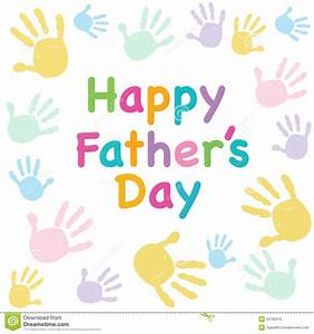 Happy Father's Day Kids Colorful Handprint Greeting Card ...
