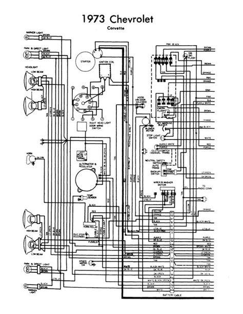 Interior Light Wiring Diagram For 1993 Corvette by Wiring Diagram 1973 Corvette Chevy Corvette 1973 Wiring