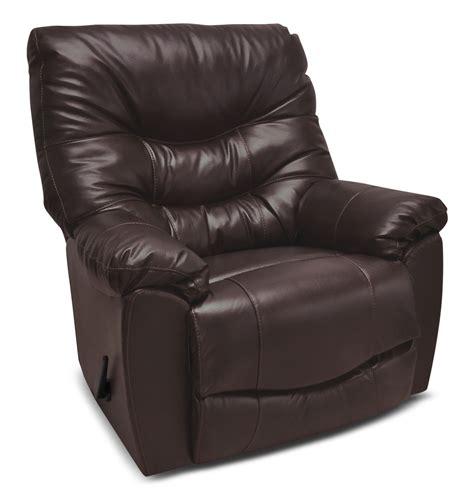 4595 genuine leather rocker reclining chair espresso