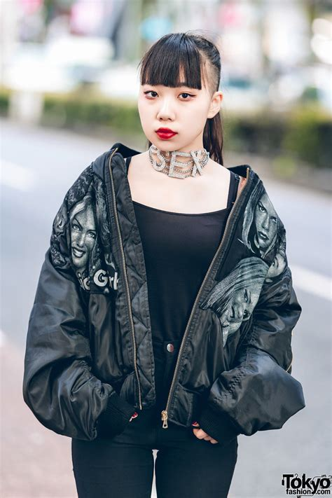 harajuku girl   black streetwear  ilil tokyo dog harajuku dolls kill tokyo fashion