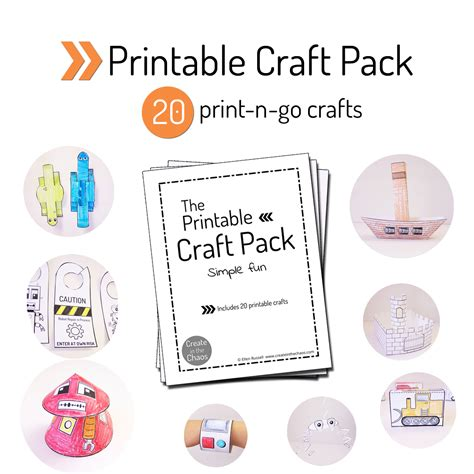 printable craft pack create   chaos