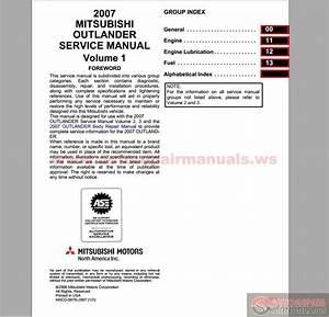 Mitsubishi 2007 Outlander Service Manual