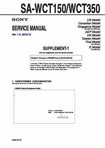 Sony Sa-wct150  Sa-wct350 Service Manual