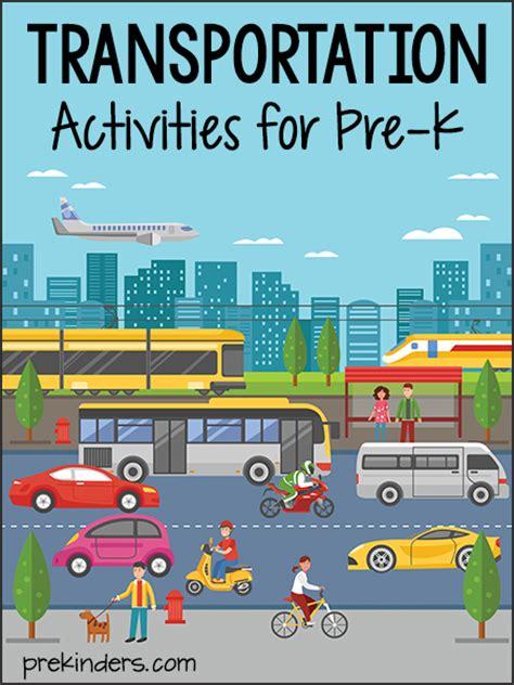 transportation activities  lesson plans  pre
