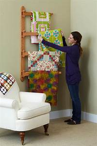 Swinging-Arm Quilt Rack Woodworking Plan from WOOD Magazine