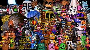 Fnaf World All Characters (thank You Image) by fnatirfan ...