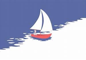 Vector Sailing Illustration