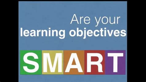 writing effective learning objectives youtube