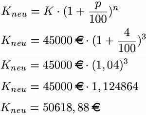 Zinseszins Zinssatz Berechnen : zinsrechnung und prozentrechnung ~ Themetempest.com Abrechnung