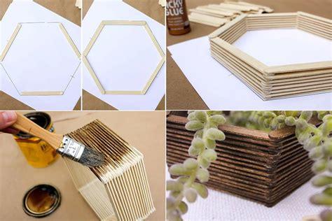 membuat hiasan dinding buatan sendiri mini hexagonal