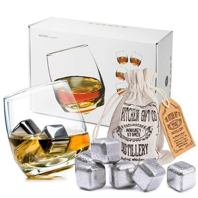 rocking whiskey glasses stainless steel whiskey stones set