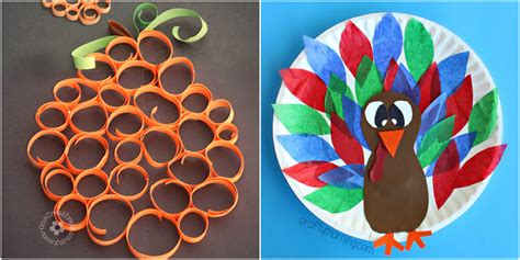 easy thanksgiving crafts  kids thanksgiving diy
