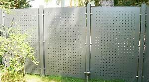 Terrasse Zaun Metall : sichtschutz terrasse metall kunstrasen garten ~ Sanjose-hotels-ca.com Haus und Dekorationen
