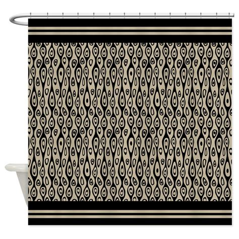 Deco Drapes - deco black and shower curtain decorative fabric