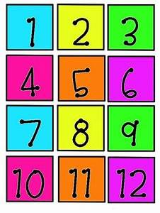 Neon Calendar Numbers by Ray s Creations