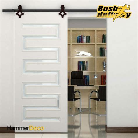 high quality   ft single sliding barn wood closet door