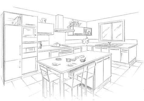 comment dessiner une cuisine