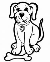 Coloring Dog Bone Cartoon Animals Pages Printable Topcoloringpages sketch template