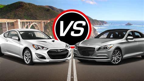 Evo magazine tests the newcomer. 2016 Hyundai Genesis Coupe vs Genesis V8 - Spec Comparison ...