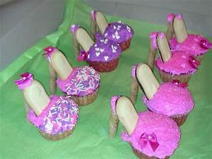 The cutest high heel cupcakes. I made them for my ...